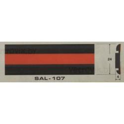 Молдинг автомобильный SAL/107 (24х4 мм.)(цена за 1 метр)