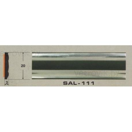 Молдинг автомобильный SAL/111 (20х3 мм.)(цена за 1 метр)