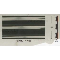 Молдинг автомобильный SAL/112 (38х4 мм.)(цена за 1 метр)