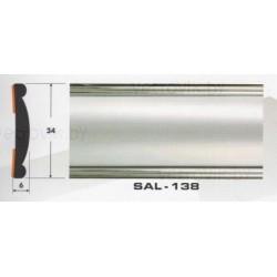 Молдинг автомобильный SAL/138 (34х6 мм.)(цена за 1 метр)