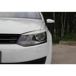 "Реснички на фары VW POLO V (2009-) хэтчбек (2010-) седан ""CARLSTEELMAN"""