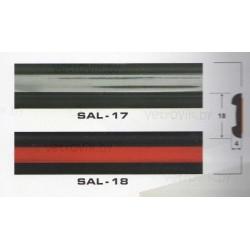 Молдинг автомобильный SAL/17 (18х4 мм.)(цена за 1 метр)