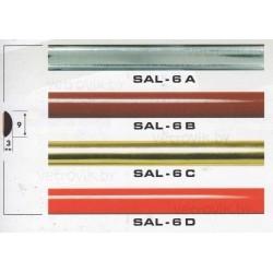 Молдинг автомобильный SAL/6(9х3 мм.)(цена за 1 метр)