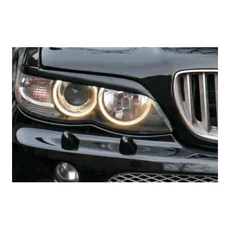 "Реснички на фары BMW X5 (2003-2007, кузов E53, рестайлинг) ""CARLSTEELMAN"""