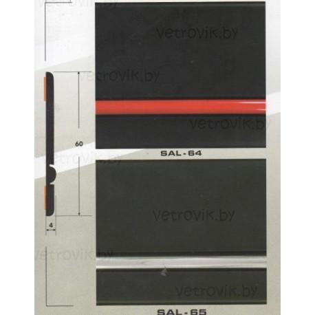 Молдинг автомобильный SAL/64,65(60х4 мм.)(цена за 1 метр)