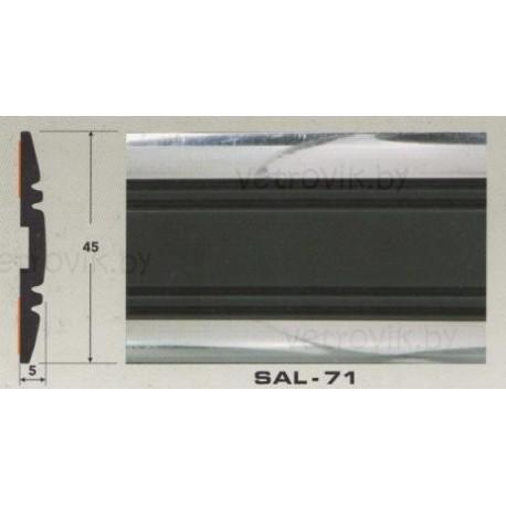 Молдинг автомобильный SAL/71 (45х5 мм.)(цена за 1 метр)