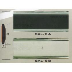 Молдинг автомобильный SAL/8 (28х5 мм.)(цена за 1 метр)