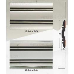 Молдинг автомобильный SAL/93,94 (45х6 мм.)(цена за 1 метр)