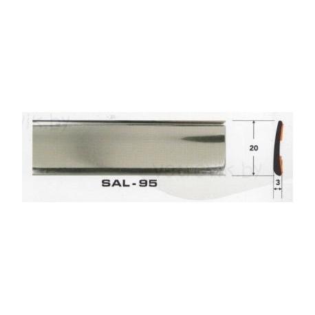 Молдинг автомобильный SAL/95 (20х3 мм.)(цена за 1 метр)